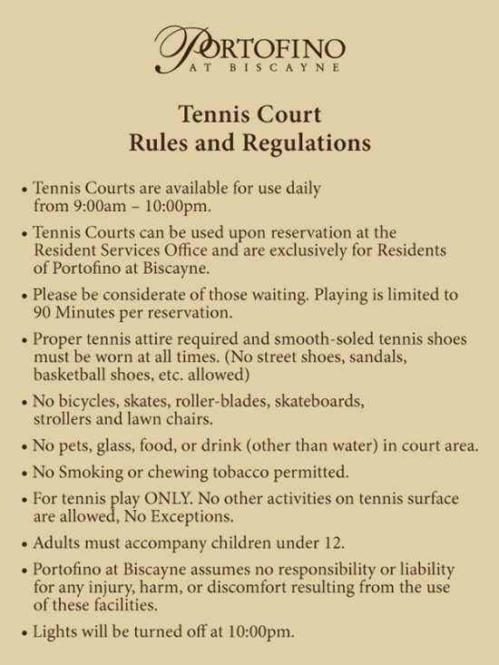 To Preserve And Ensure These Upgrades Are A Going Be Long Term Benefit We Must Implement The Following Rules Regulations