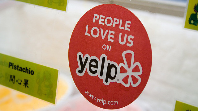 """""""Yelp Sticker and Reviews"""" by John Fischer - CC BY 2.0"""